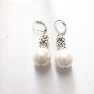 14mm pearl earrings